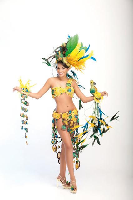 Srta. Colombia 2011-2012. Desfile en traje artesanal Quindío: Estefanía Díaz Granados Gallo