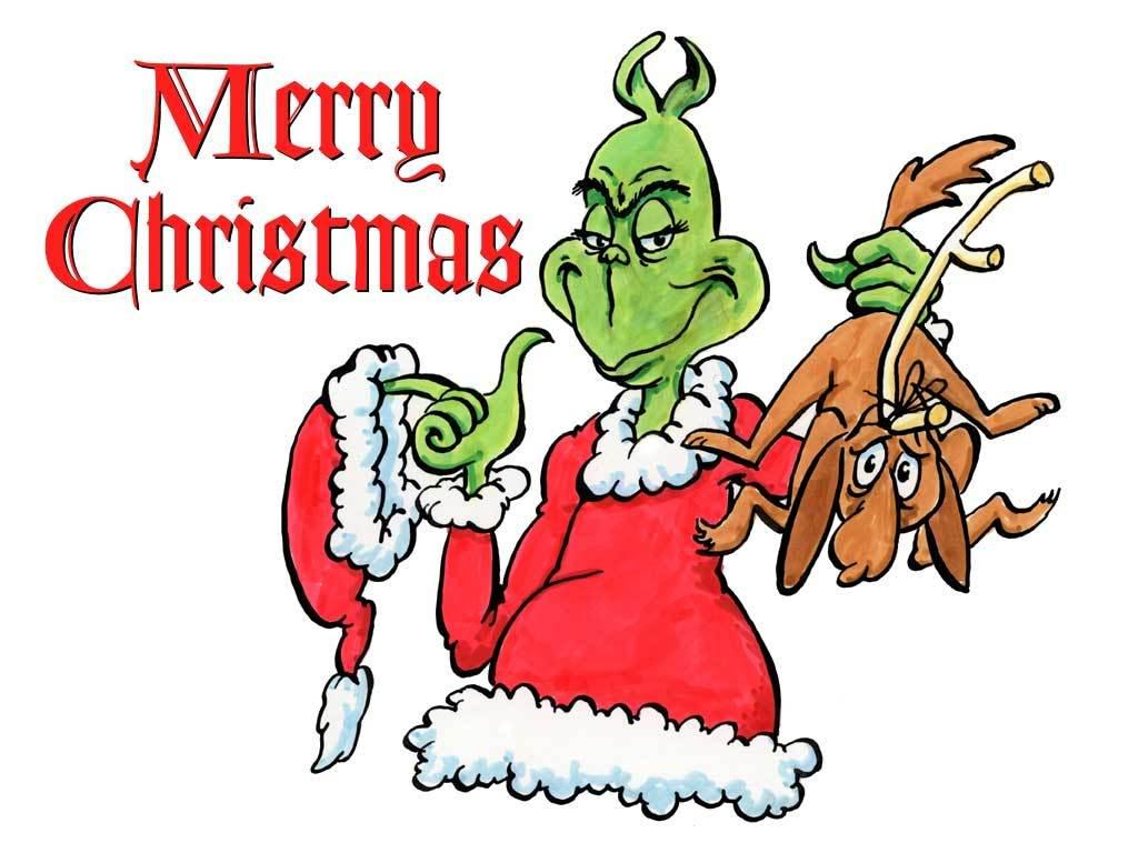 Colorear Pintar: Dibujo de el Grinch en Navidad