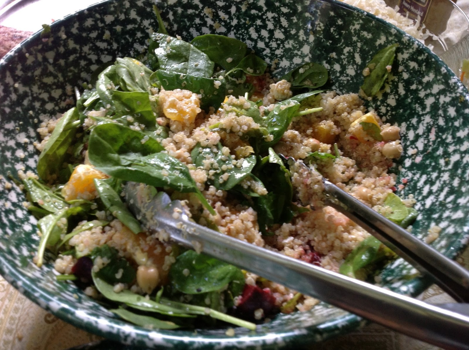 ... quinoa salad with sour cherries and shiitakes warm quinoa spinach and