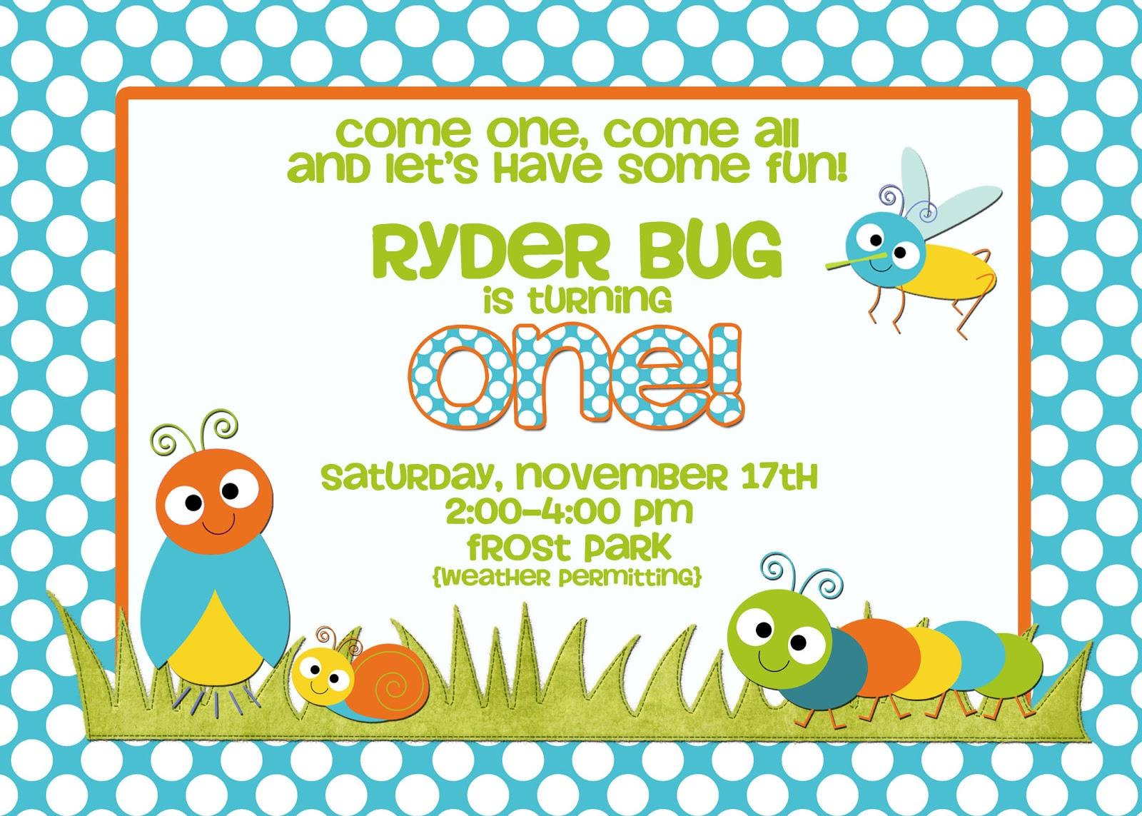 Bug Birthday Invitations Image collections - Invitation Templates ...