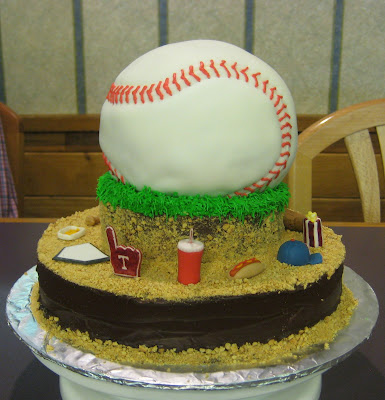 3D Baseball Themed Cake - Side View 2