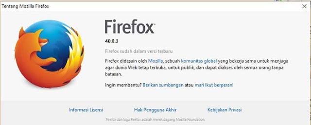 Mozilla sudah paling baru