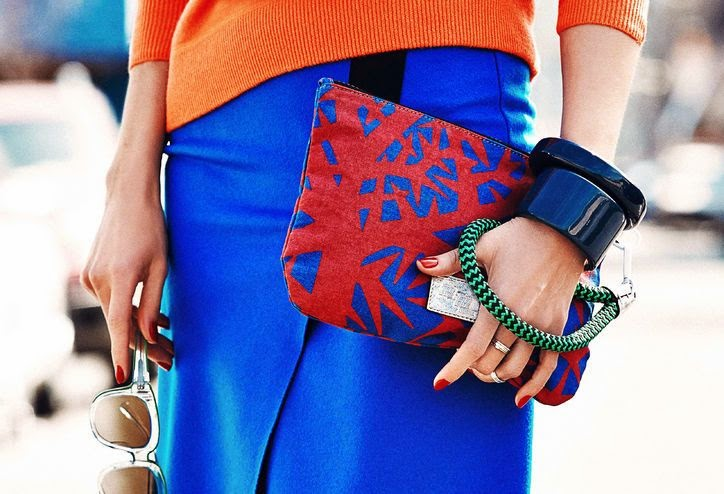 Orange Shirt+blue S curt +mixture hand bag + accessories