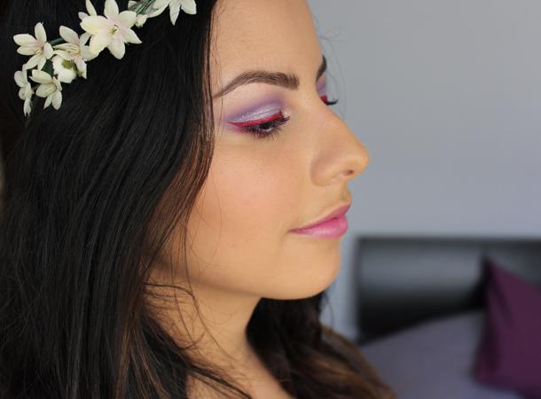 illamasqua cancan dab creep fledgeling eyeshadow look glitter lilac festival makeup