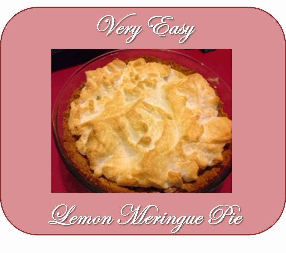 lemon meringue pie, lemon pie, very easy, recipe