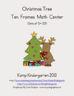 http://www.teacherspayteachers.com/Product/Christmas-Tree-Ten-Frames-Math-Center-968501