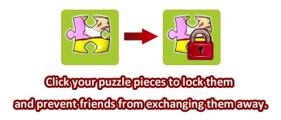 Lock puzzle pieces