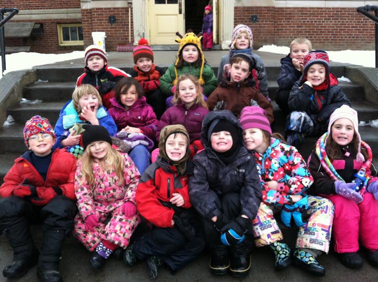 Kindergarten Winter Class Picture