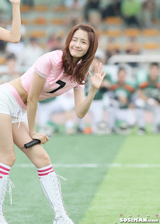 Im Yoona Korean Cute Girl Singer Sexy Photo at Namyangju Central Football Game 31