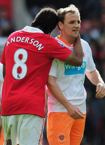 Anderson Man Utd vs Blackpool Barclays Premier League