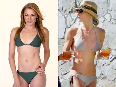 LeAnn Rimes Before And After Breast Implants