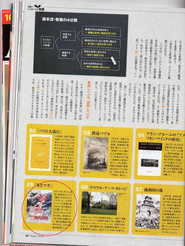 Nikkei Business Associé Mahou Shoujo Madoka Magica 002