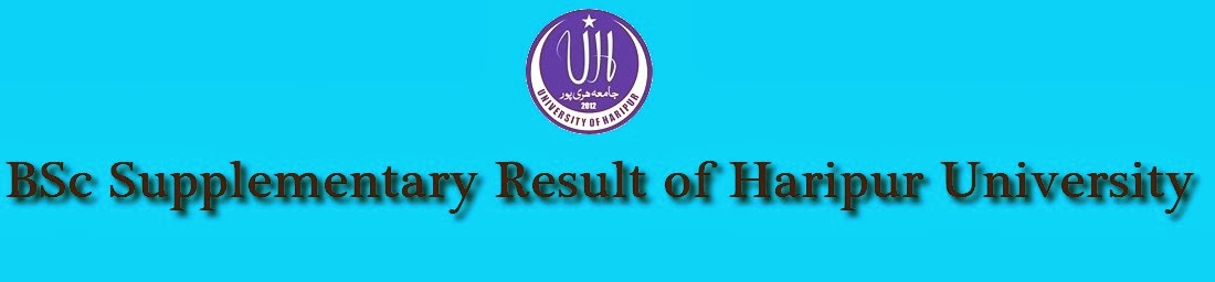 BSc Supplementary Result of Haripur University 2014
