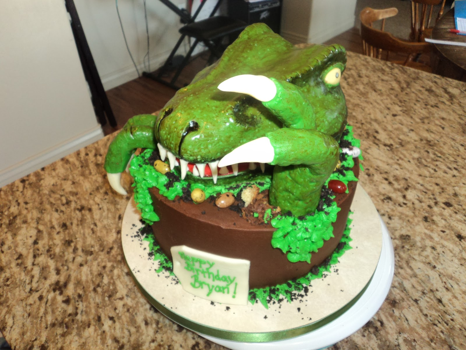 Delectable Cakes TRex Birthday Cake