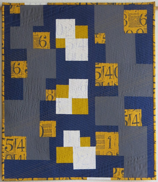Improv Handbook - Score #1 - finished quilt