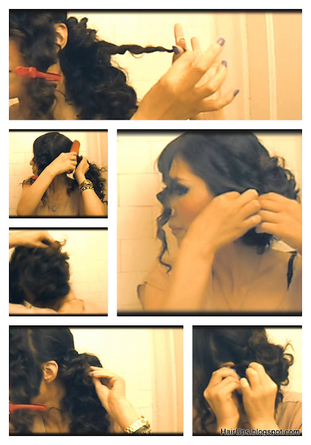 Taylor Swift Hair Tutorial with YouTube video , curly elegant chignon - wedding hairstyle updo