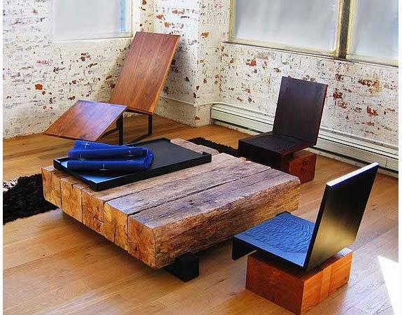 Журнальный стол из бруса