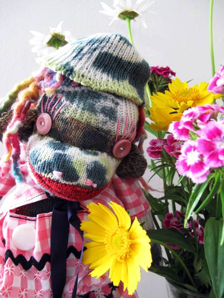 tie dyed sock monkey vintage style