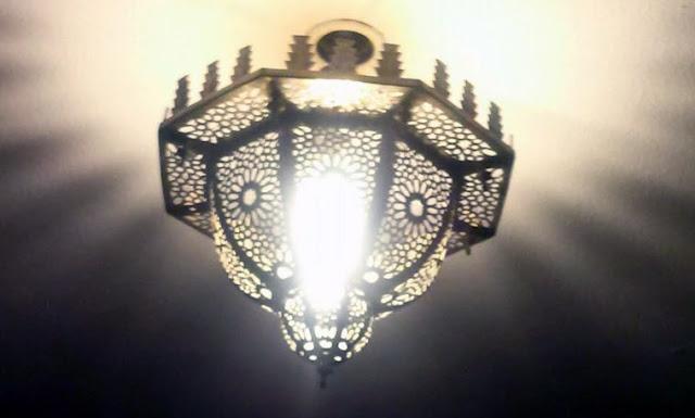Restaurante El Califa, detalle de lámpara.