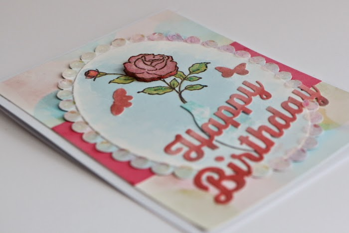 Impression Obsession Handmade Flower Birthday Card