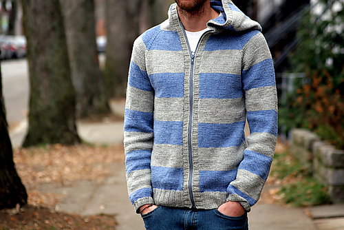 Zippered Hoodie Knitting Pattern : The Knitting Needle and the Damage Done: Its All About ...