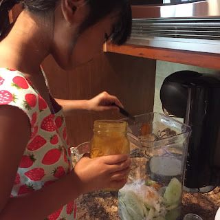 kids in kitchen, refrigerator pickles, whigs & tories strawberry swing top