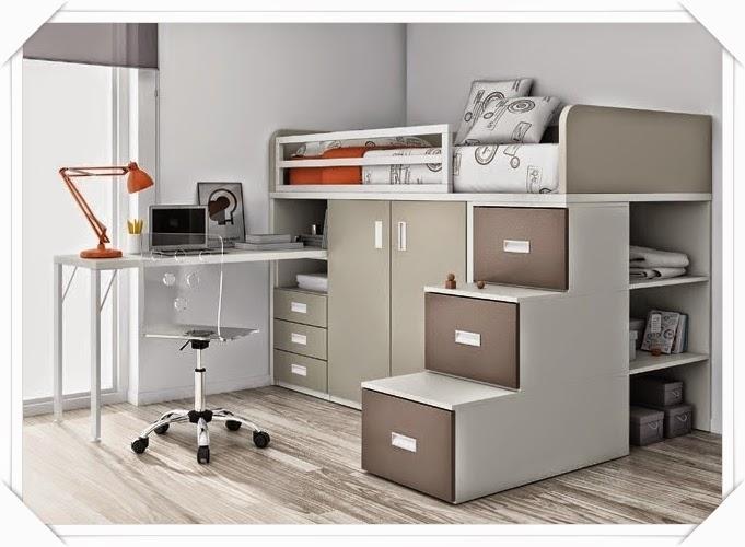 Amoblamientos y productos andrea w ffman camas bloque - Cama con escritorio abajo ...