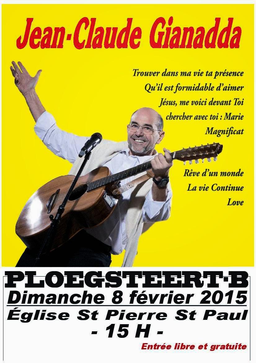 8 février concert de Jean-Claude GIANADDA en l'église de Ploegsteert.