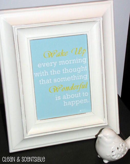 Free Printable from Clean and Scentsible.  Definitely something to remember!