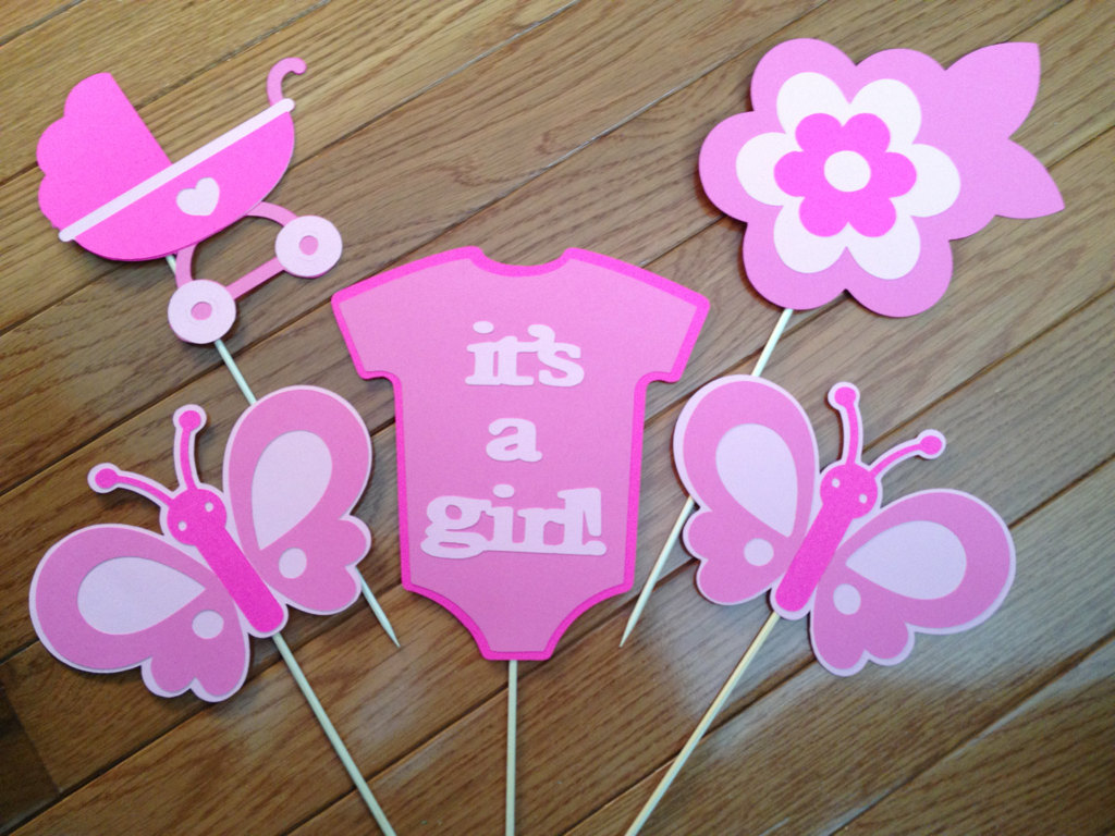 R r creations butterfly baby shower it 39 s a girl for Baby shower decoration butterfly