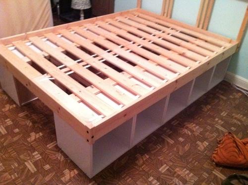Manualidades decoraci n pintura cama con almacenaje for Camas con almacenaje