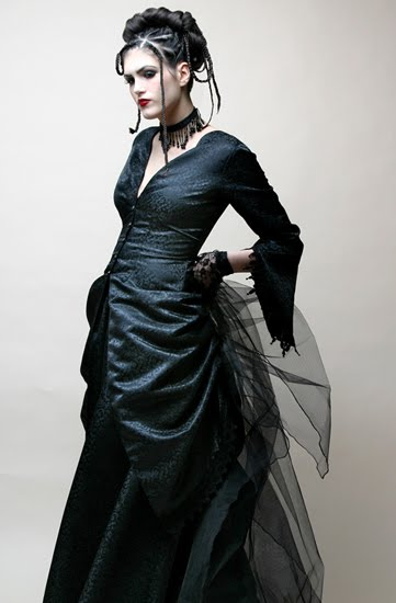 Gothic Black Wedding Dresses For  : Dark glamour of gothic fashion handmade victorian