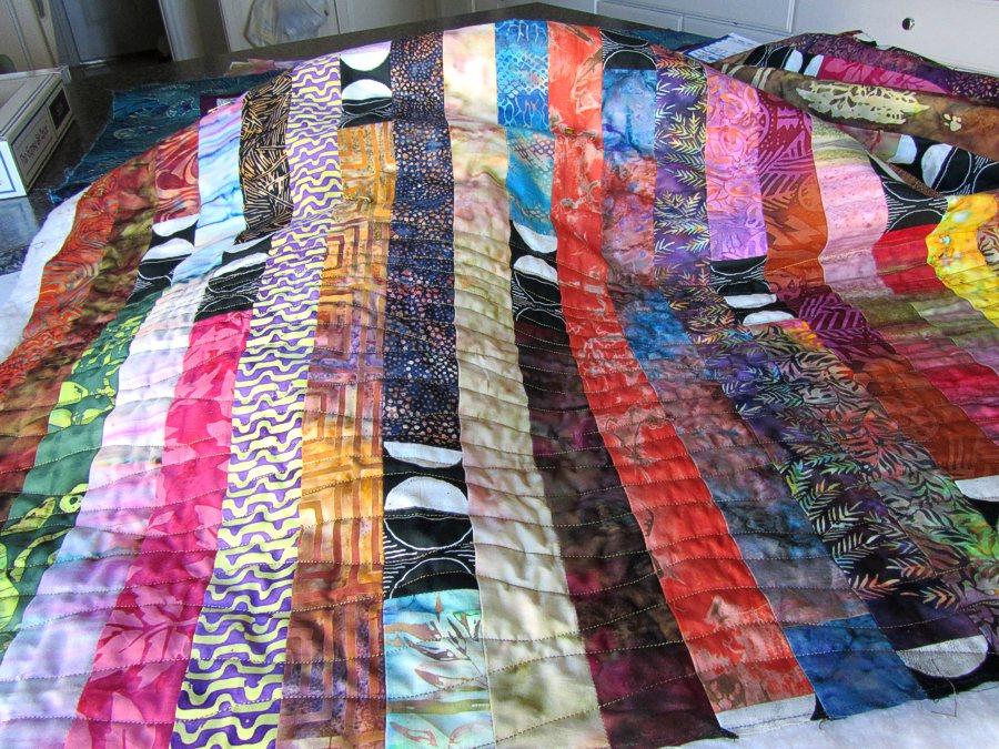 Quilts + Color: Potato Chip Quilt - Quilting In Progress : potato chip quilt pattern - Adamdwight.com