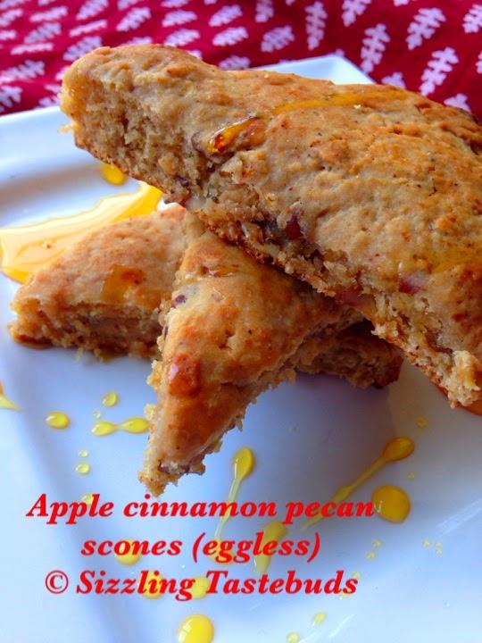 Welsh Pecan Apple Cinnamon Wholewheat scones
