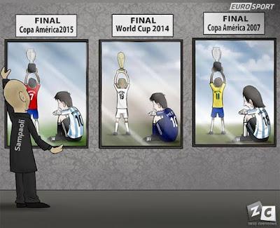 La Maldición de Messi con Argentina