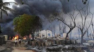 Perempuan Dibakar Hidup-Hidup, Myanmar Rusuh