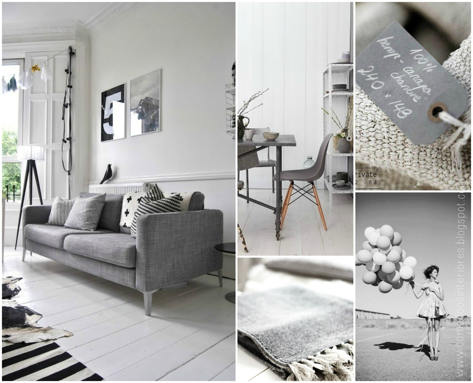 Comodoos interiores tu blog de decoracion la perfecta mezcla de gris - Blog de decoracion de interiores ...