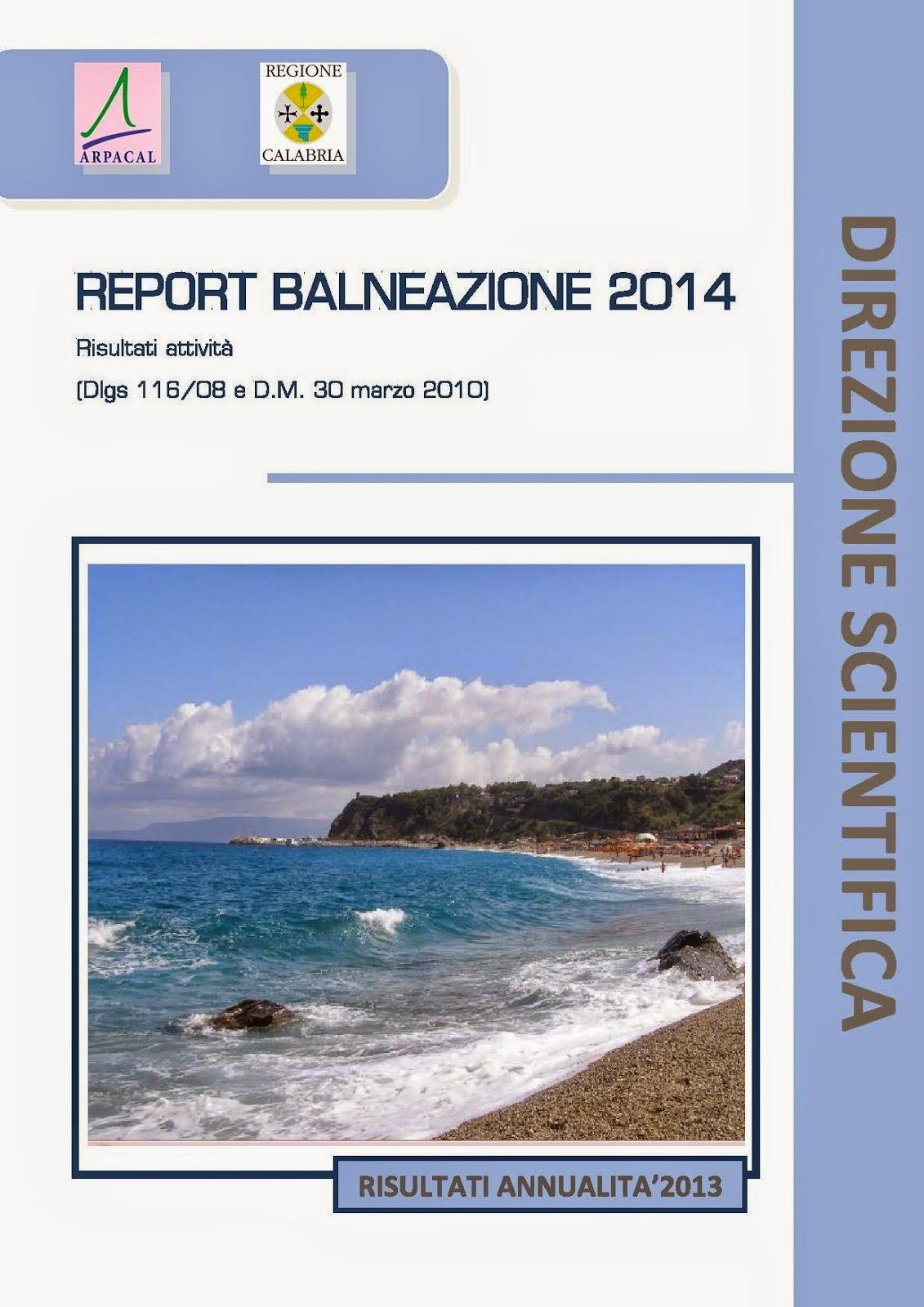REPORT BALNEAZIONE 2014