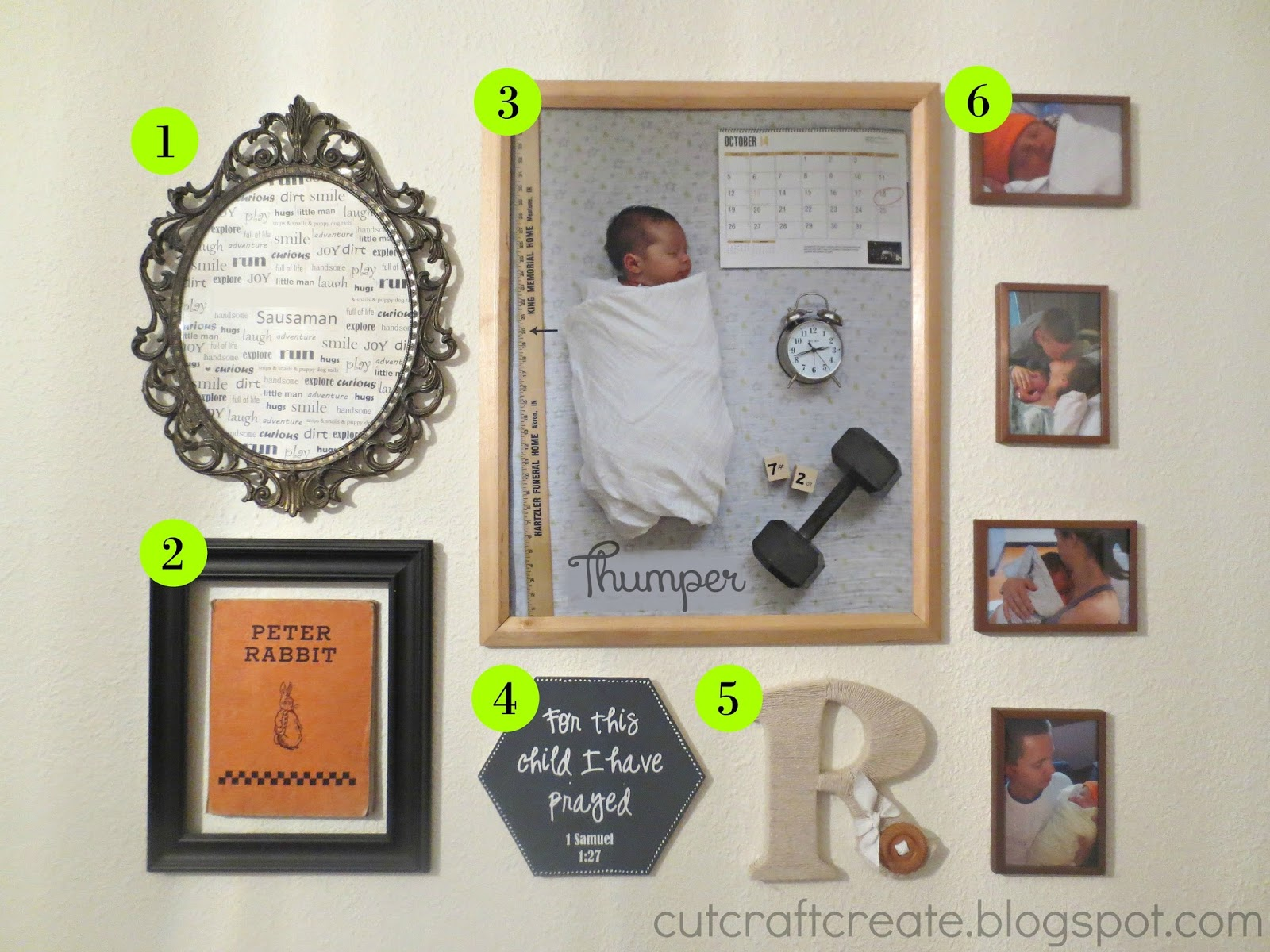 Cut, Craft, Create: Decorating Tip #4 {Wall Collage with SIX fun ideas!}
