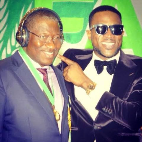 President Jonathan enjoy's D'banj's Beats by Dre headphone