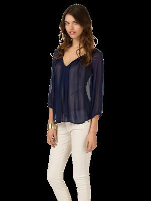 m5 J71 23044 DARKNAVY SIDE 7 4 - �ifon Elbise ve Bluz Modelleri 2012