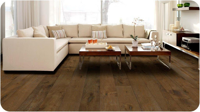 gorgeous wide plank, hardwood flooring in a living room