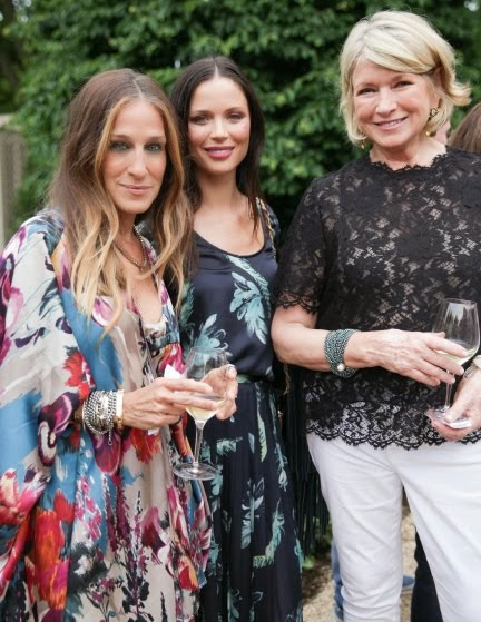 Martha Still Entertains...At Her Hamptons Home with Sarah Jessica Parker