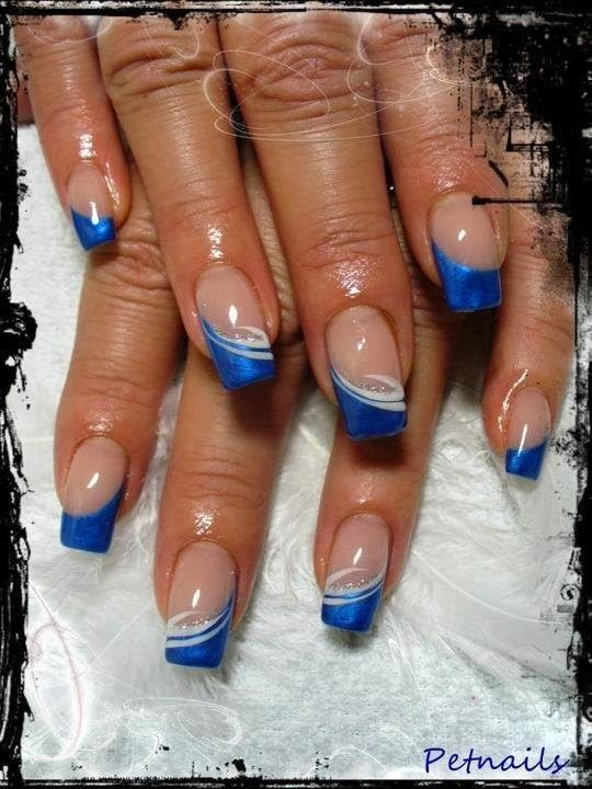 Amazing Nails With Blue Tips Omg Love Beauty