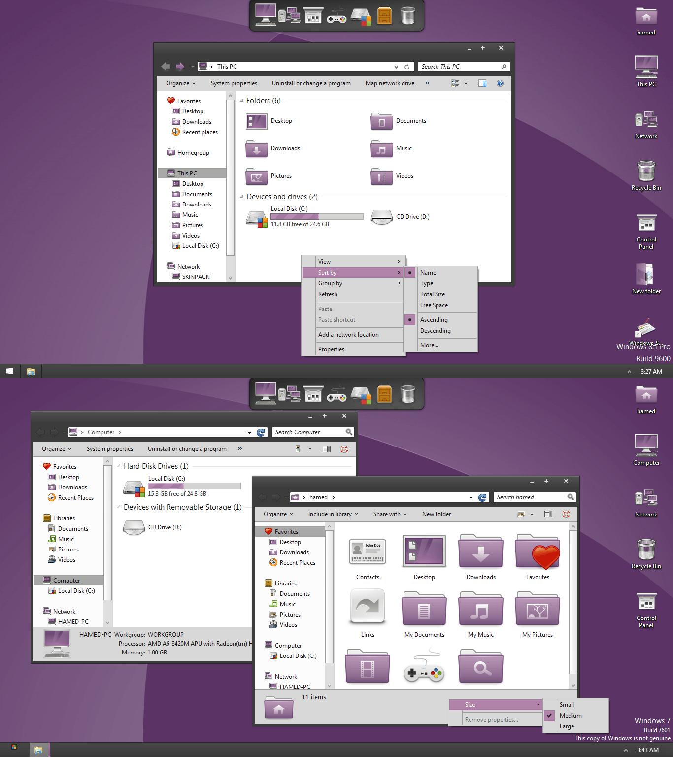Noble skinpack for windows 7 8 1 windows10 themes i for Noble windows