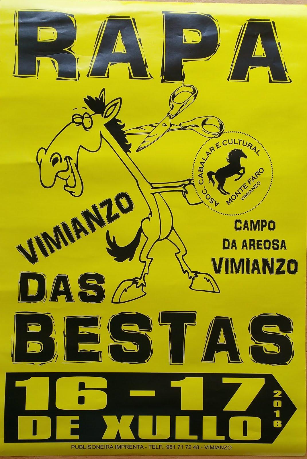 Fiesta de caballos salvajes en Galicia