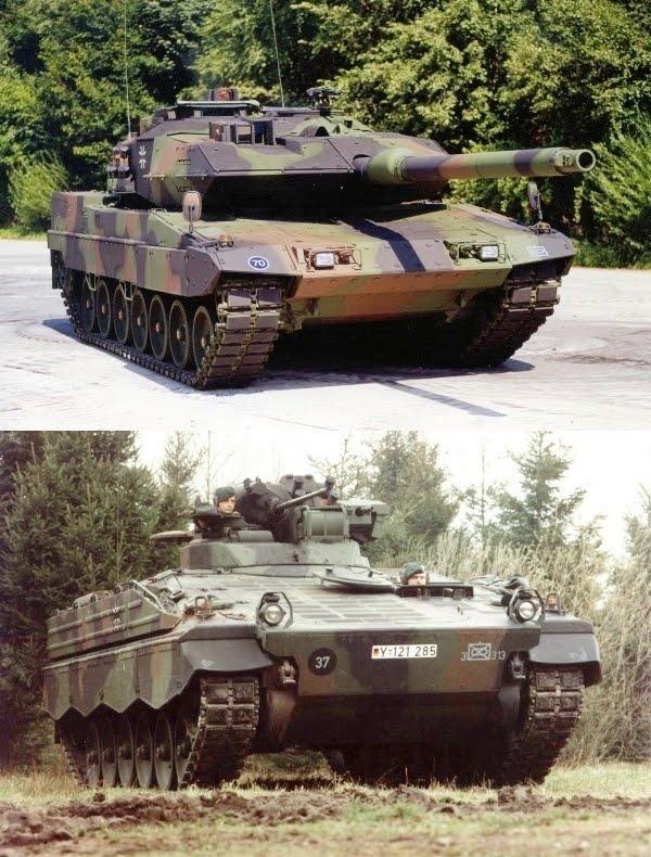 Tank Leopard 2A6 dan Marder 1A3