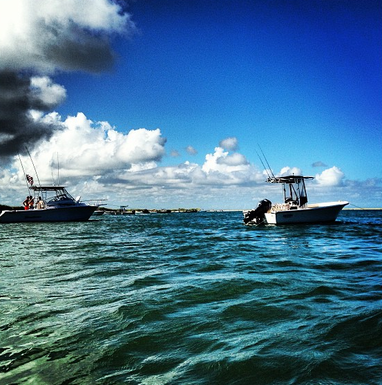 Boating off the Crystal Coast