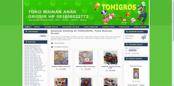 polisi online, grosir mainan
