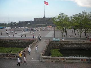Citadel of Hue Vietnam Flag